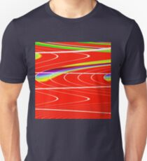 Red stadium tracks T-Shirt