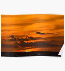 Beautiful sunset in Hawaii  Poster