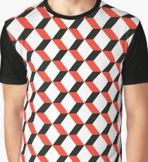Geometric Minimal Cube Pattern  Graphic T-Shirt
