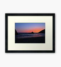 Big Sur sunset 1 Framed Print