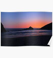 Big Sur sunset 1 Poster