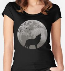 Howling Wolf Women's Fitted Scoop T-Shirt