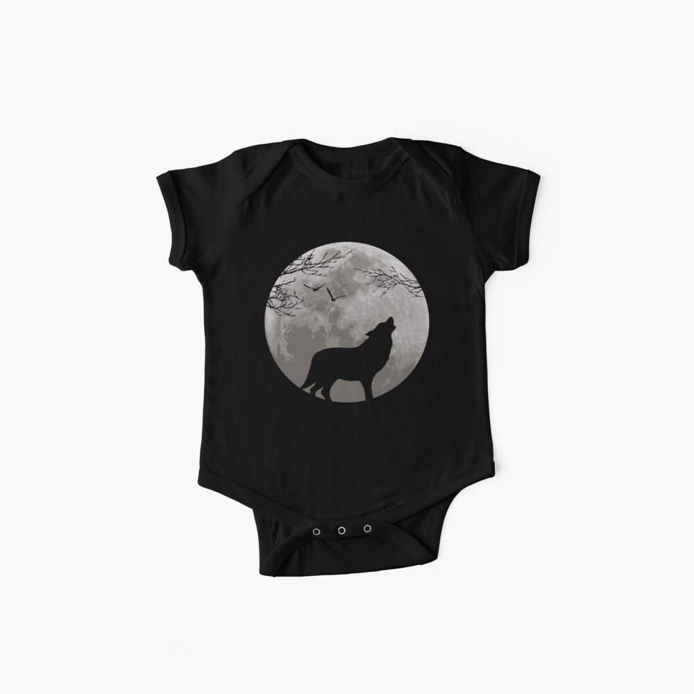 Howling Wolf Baby One-Piece
