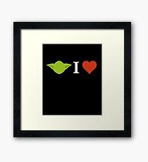 Yoda I Love (black) Framed Print