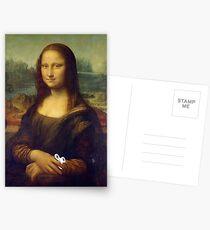 Mona Lisa Fidgets Postcards