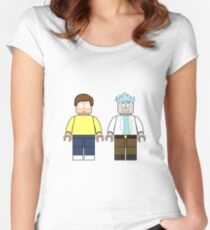 Lego Rick and Morty Women's Fitted Scoop T-Shirt