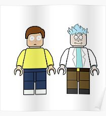 Lego Rick and Morty Poster