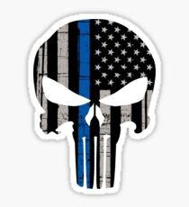 Blue Lives Matter Skull Sticker