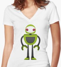 Robot Character #125 Women's Fitted V-Neck T-Shirt