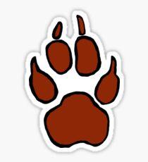 Coyote Paw Print Sticker