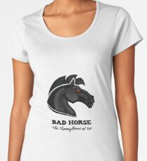 Bad Horse, Thoroughbred of Sin, Evil League of Evil Women's Premium T-Shirt