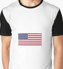American Flag  Graphic T-Shirt