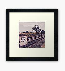 Stop-Look-Listen Framed Print