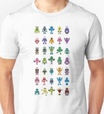 Robot Characters Poster T-Shirt