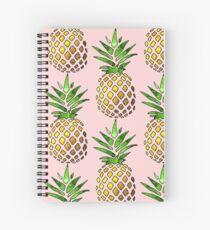 Ananas-Design auf einem Sonnenblume-Aufkleber Spiralblock