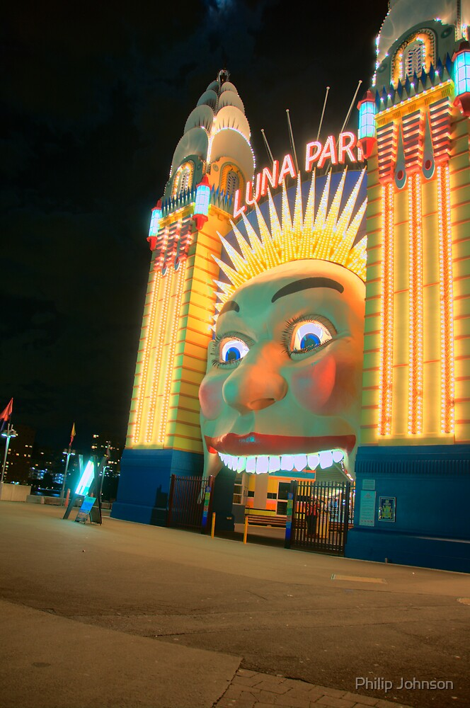 Just For Fun - Luna Park - Moods Of A City - The HDR Series Sydney Australia by Philip Johnson