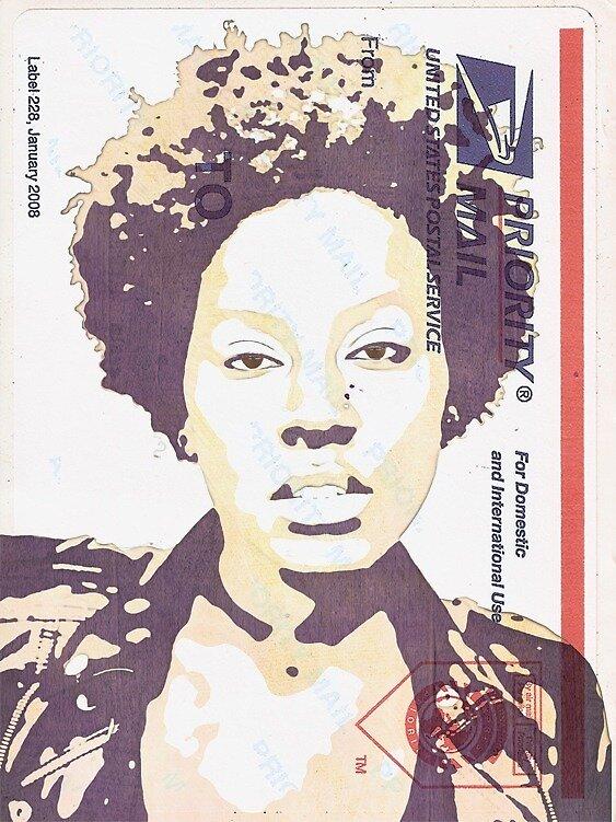 Postal Sticker Art by CLRPhoto