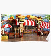 Hot Dog Restaurant Poster