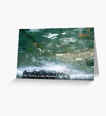 Trickle Up (Fountains of Lower Manhattan) Greeting Card