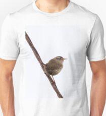 Wren Songbird Bird on Rusty Wire (Troglodytes) Unisex T-Shirt