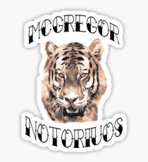 Conor Mcgregor Tiger Sticker