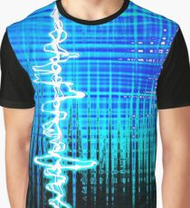 Sound Wave Blue Graphic T-Shirt