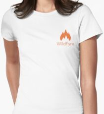 WildFyre with Lettering Women's Fitted T-Shirt