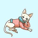 Trans pride sphynx cat by maarika