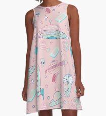 Galaxy Babe Pattern A-Line Dress