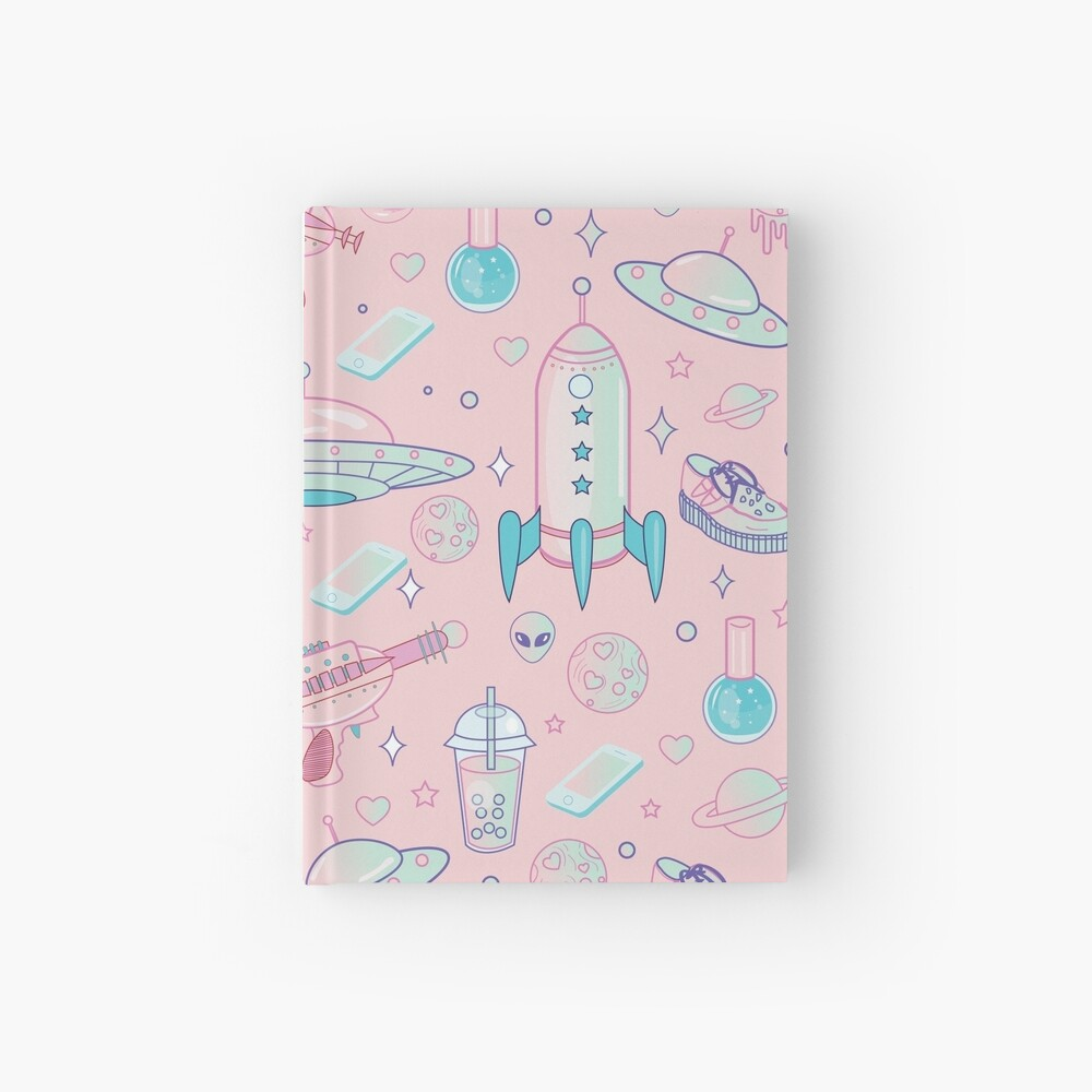 Galaxy Babe Pattern Hardcover Journal
