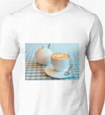 Morning cup of coffee in white cup T-Shirt