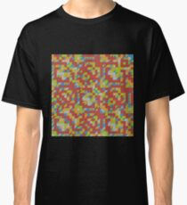 Abstract Polygon Multi Color Low Poly Triangle Quilt Classic T-Shirt