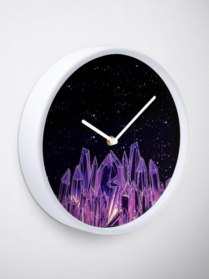Alternative Ansicht von Dunkler Kristall Uhr