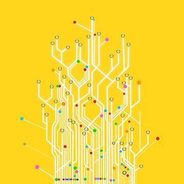 Yellow circuit board by Destructor1123