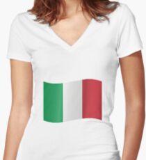 Italian Flag! Women's Fitted V-Neck T-Shirt