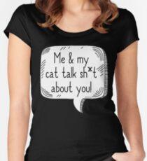 Cat Talk Sh*t Women's Fitted Scoop T-Shirt