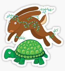 the hare and the tortoise Sticker