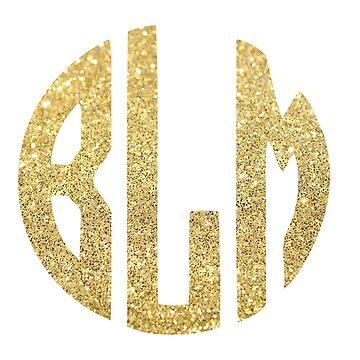 Glitter Monogram: BLM by jaylajones