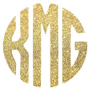 Glitter Monogram: KMG by jaylajones