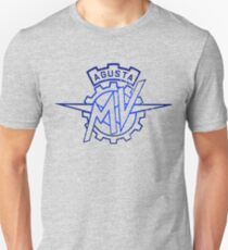 Meccanica Verghera Agusta Outline BLUE DISTRESSED T-Shirt