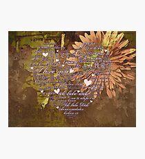 Love Language Photographic Print