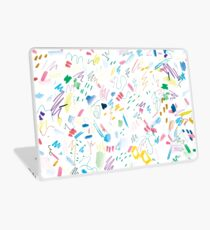 Colourful Messy Swatch Pattern Laptop Skin
