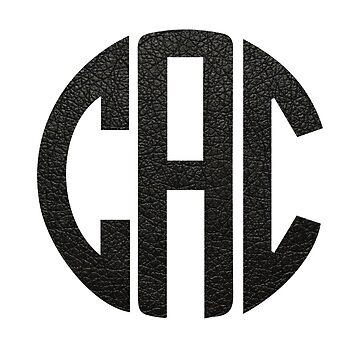 Leather Monogram: CAC by jaylajones