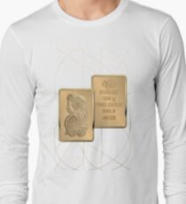 Fortuna Suisse Minted Gold Bar - Obverse and Reverse over White LeatherFortuna Suisse Minted Gold Bar - Obverse and Reverse over White Leather T-Shirt