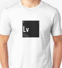The Element of Love (Black) Slim Fit T-Shirt