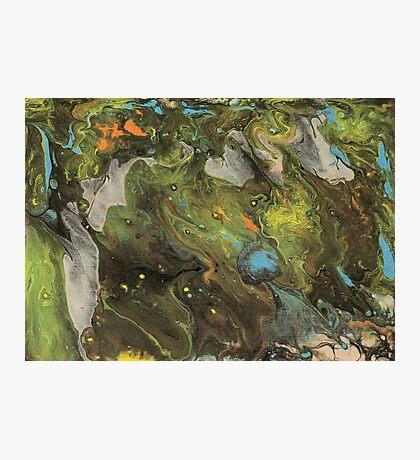Acrylic Paint Pour (Dirty Pour) 1 Photographic Print