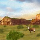 Western Whitetail Deer by Walter Colvin