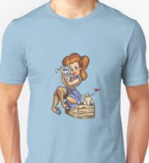 Pinup with Puppies T-Shirt