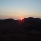 sunset over higger tor  by mbrookes81