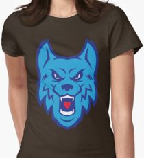 Angry Blue Wolf Logo T-Shirt